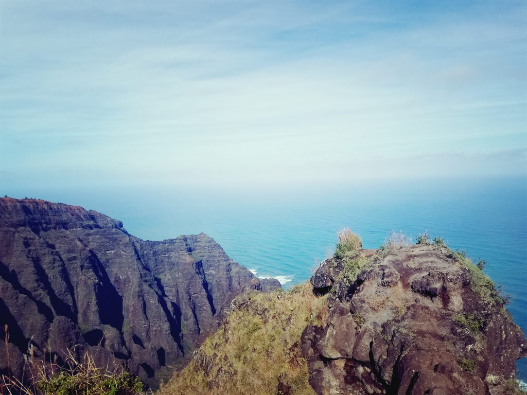 Hiking and Trail Running Awa'awapuhi Trail in Kauai Hawaii
